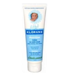 Klorane Bébé Crème Nutritive au Cold Cream 125Ml pas cher