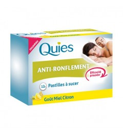 Quies Anti-Ronflement Pastilles à Sucer Miel Citron 12 Pastilles