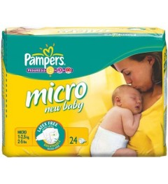 Pampers New Baby Micro 1 à 2,5 Kg 24 Couches