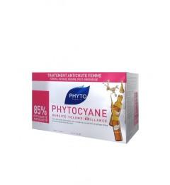 PHYTOCYANE Soin Antichute Stimulateur De Croissance Chutes de Cheveux Féminines 12 Ampoules