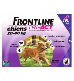 Frontline Tri Act Chiens L 20 à 40kg 6 Pipettes