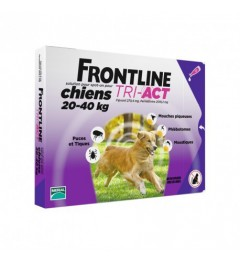 Frontline Tri Act Chiens L 20 à 40Kg 3 Pipettes