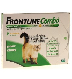 Frontline Combo Spot On Chat 6 pipettes pas cher