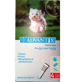Advantix Petit Chien Spot On 4-10 Kg 4 pipettes