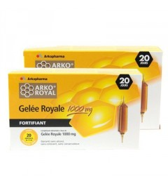 Arko Royal Gelée Royale 1000mg 20 Ampoules Lot de 2