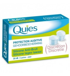 Quies Protection Auditive en Silicone Discrétion 3 Paires