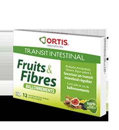 Ortis Fruits et Fibres Ballonnements 12 Cubes