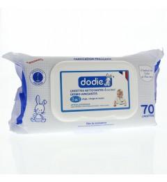 Dodie Lingettes Nettoyantes Douceur 3 en 1 paquet de 70