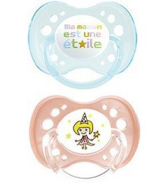 Dodie Sucette Physiologique Silicone Duo Fille +18 Mois P51