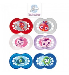 MAM Sucettes Décor Animaux Silicone Duo + 18 Mois